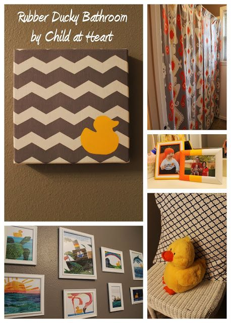 The Child at Heart Home: Orange, Yellow, and Grey Rubber Ducky ...