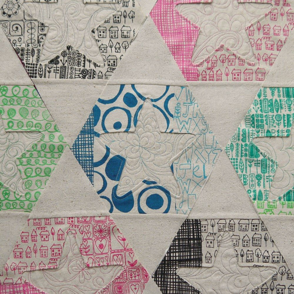 blu-shed: hexagon and star quilt progress