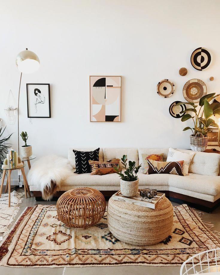 How To Decorate A Wall Bohemian Living Room Decor Boho Living