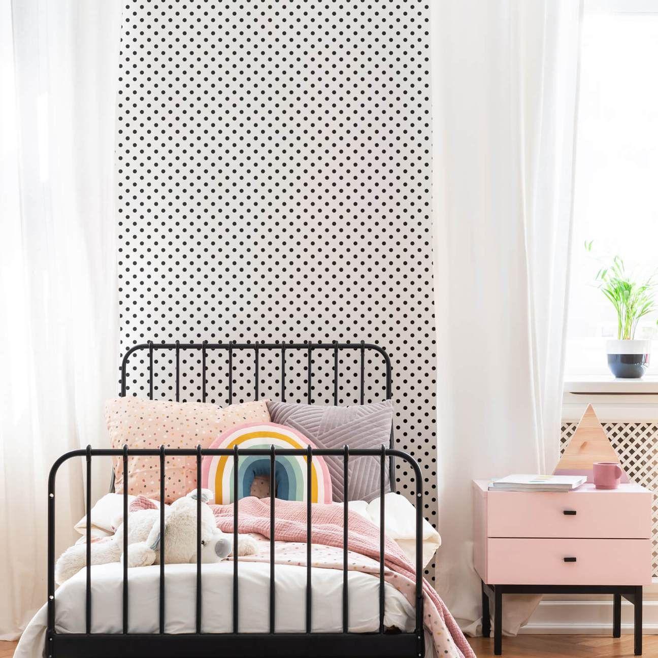 Modern polka dot wallpaper for kids rooms in 2020 Polka