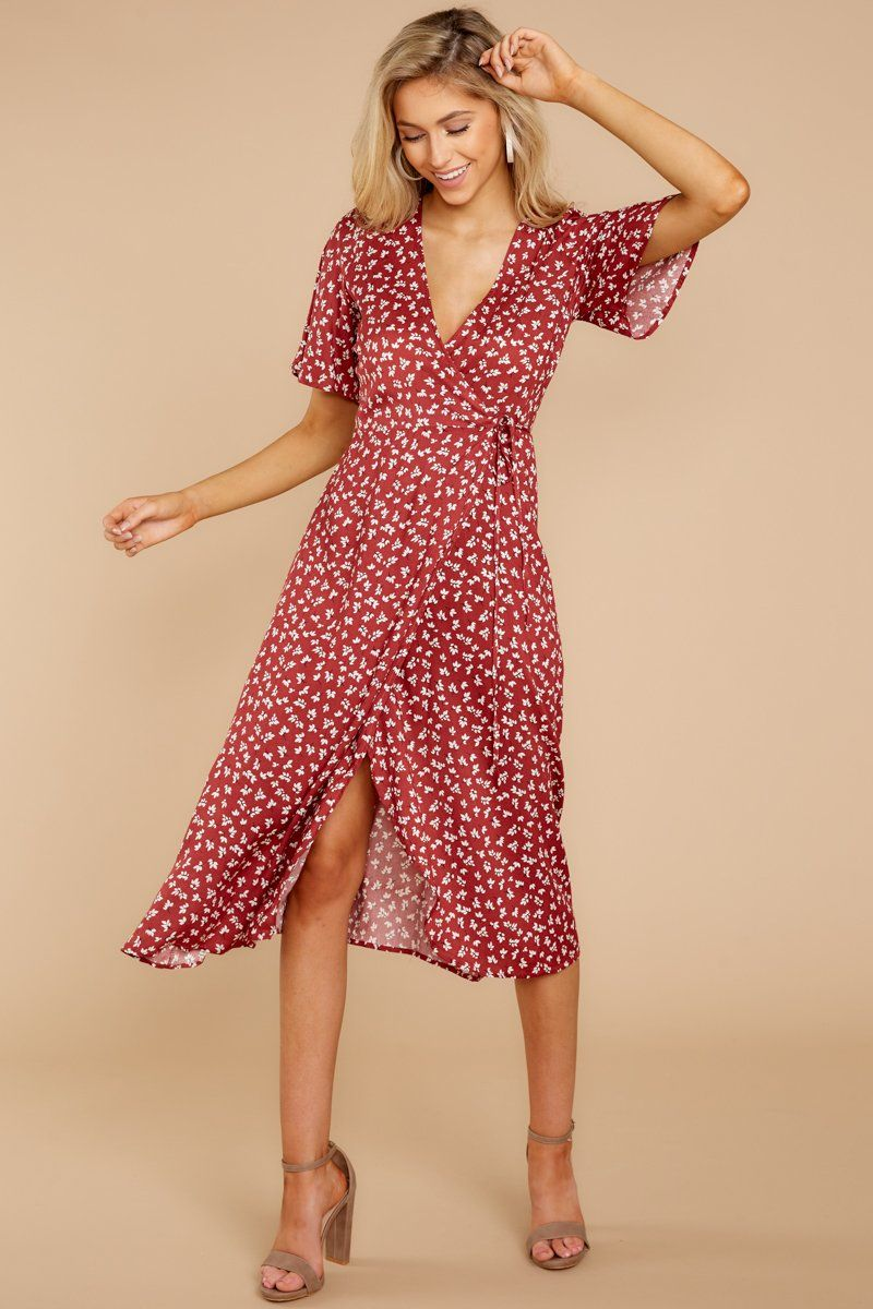 Charming Red Floral Print Midi Dress Floral Wrap Midi Dress 49 Red Dress Boutique Red Midi Dress Dark Red Midi Dress Red Dress [ 1200 x 800 Pixel ]