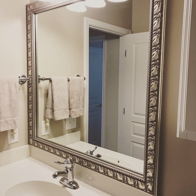 Naples Antique Silver Frame Bathroom Mirror Frame Bathroom Mirror Decorative Bathroom Mirrors