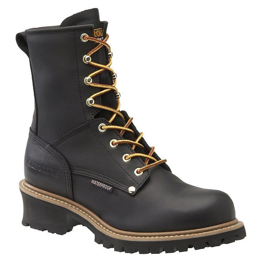 Men's Carolina Plain Non Steel Toe Logger - Black