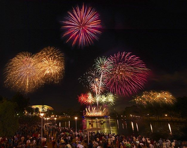 New Year S Eve Fireworks Over The River Torrens In Adelaide South Australia New Years Eve Fireworks South Australia Adelaide South Australia