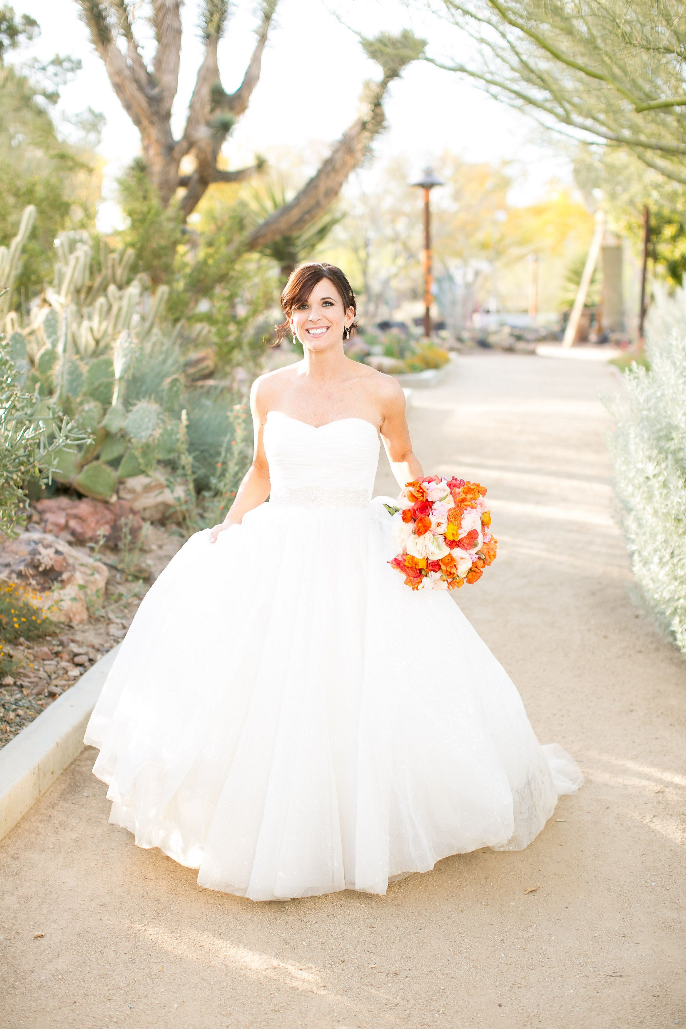 Modern, Colorful Las Vegas Wedding Wedding gown