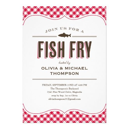 Fish Fry Party Invitations Fish fry, Party invitations and Fish - invitation to a party