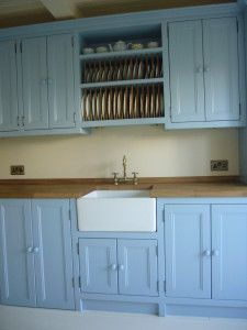 Best Lovely Lulworth Blue Belfast Sink Unit With Plate Rack 640 x 480