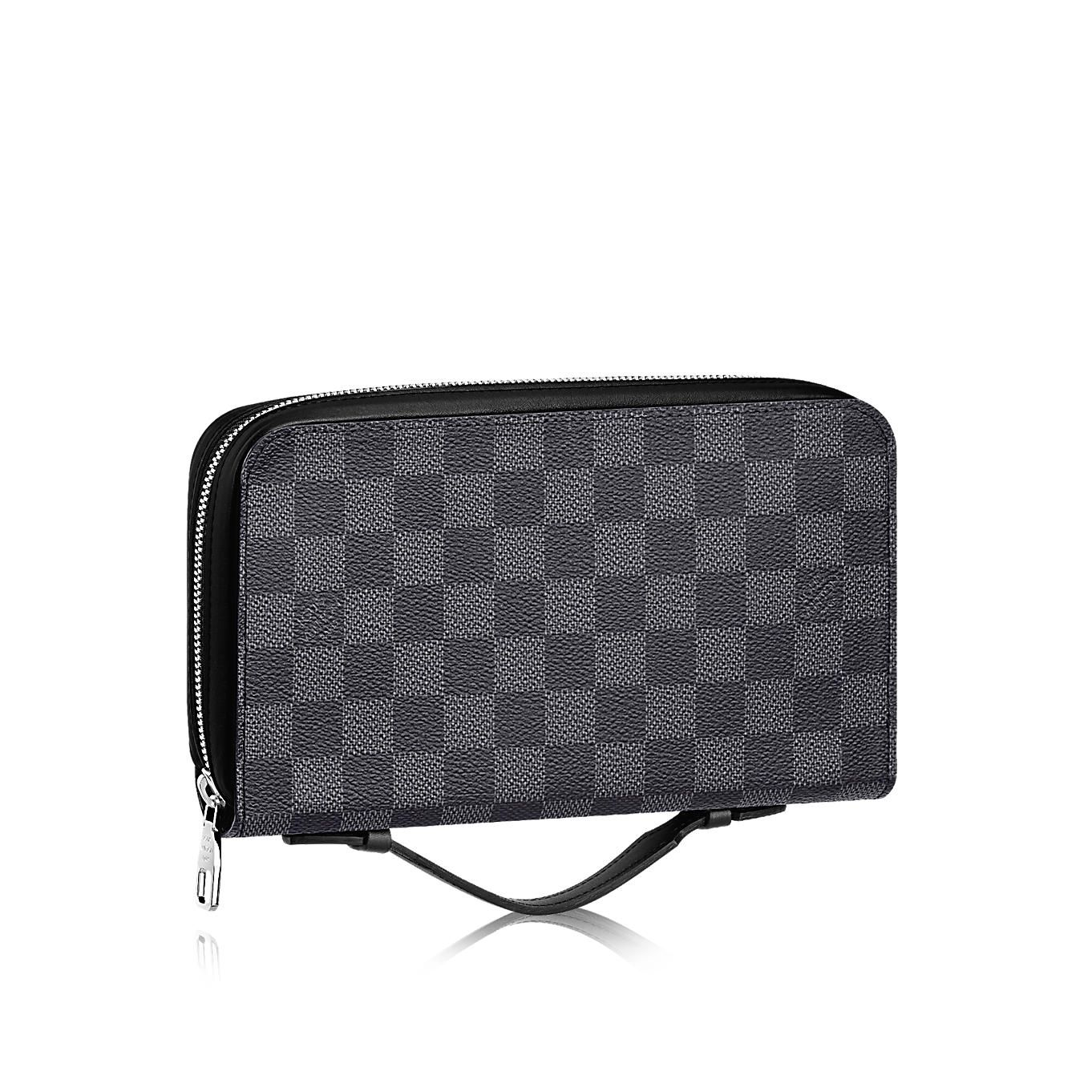 Damier graphite canvas small leather goods wallets zippy