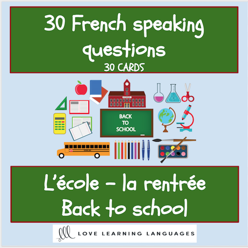 30 French Speaking Prompt Question Cards