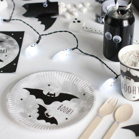 Koselig Halloween-bord til barna