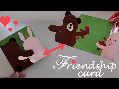 Friendship Card Easy Diy Youtube Valentine S Day Diy Cards
