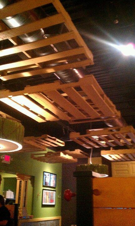 Pallet ceiling!   Attic renovation