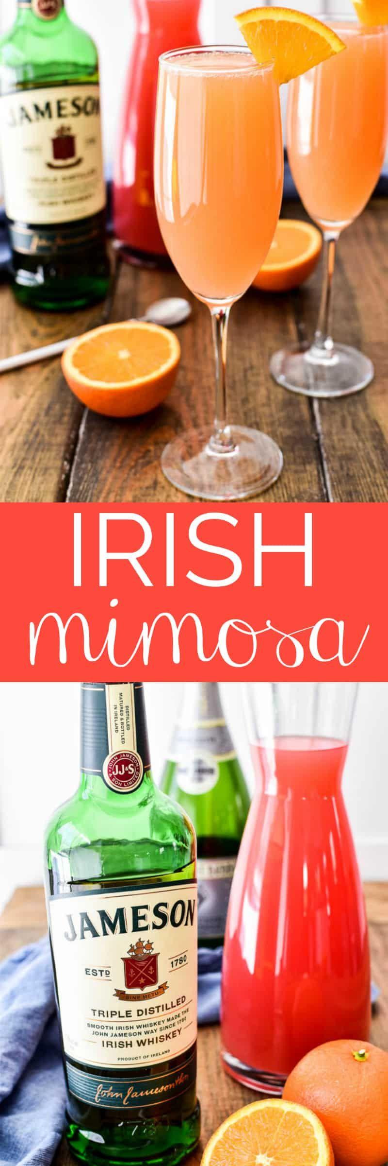 Irish Mimosa Recipe Party Drinks Alcohol Alcoholic Drinks Recipes