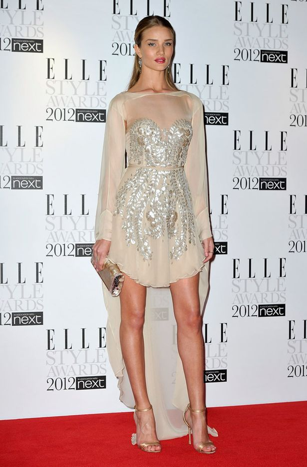 Rosie Huntington Whiteley at The Elle Style Awards 2012