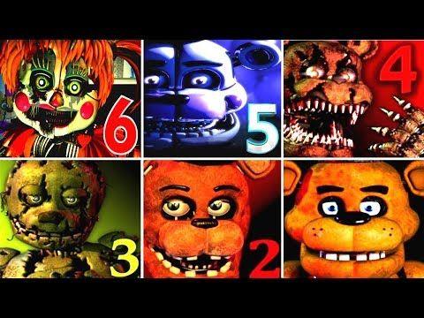 ALL JUMPSCARES Five Nights At Freddy's 1, 2, 3, 4 (FNAF, FNAF 2