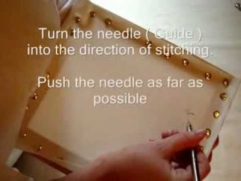 1 - Bunka Embroidery Lesson - Running stitch  BunkaCraft Embroidery - YouTube