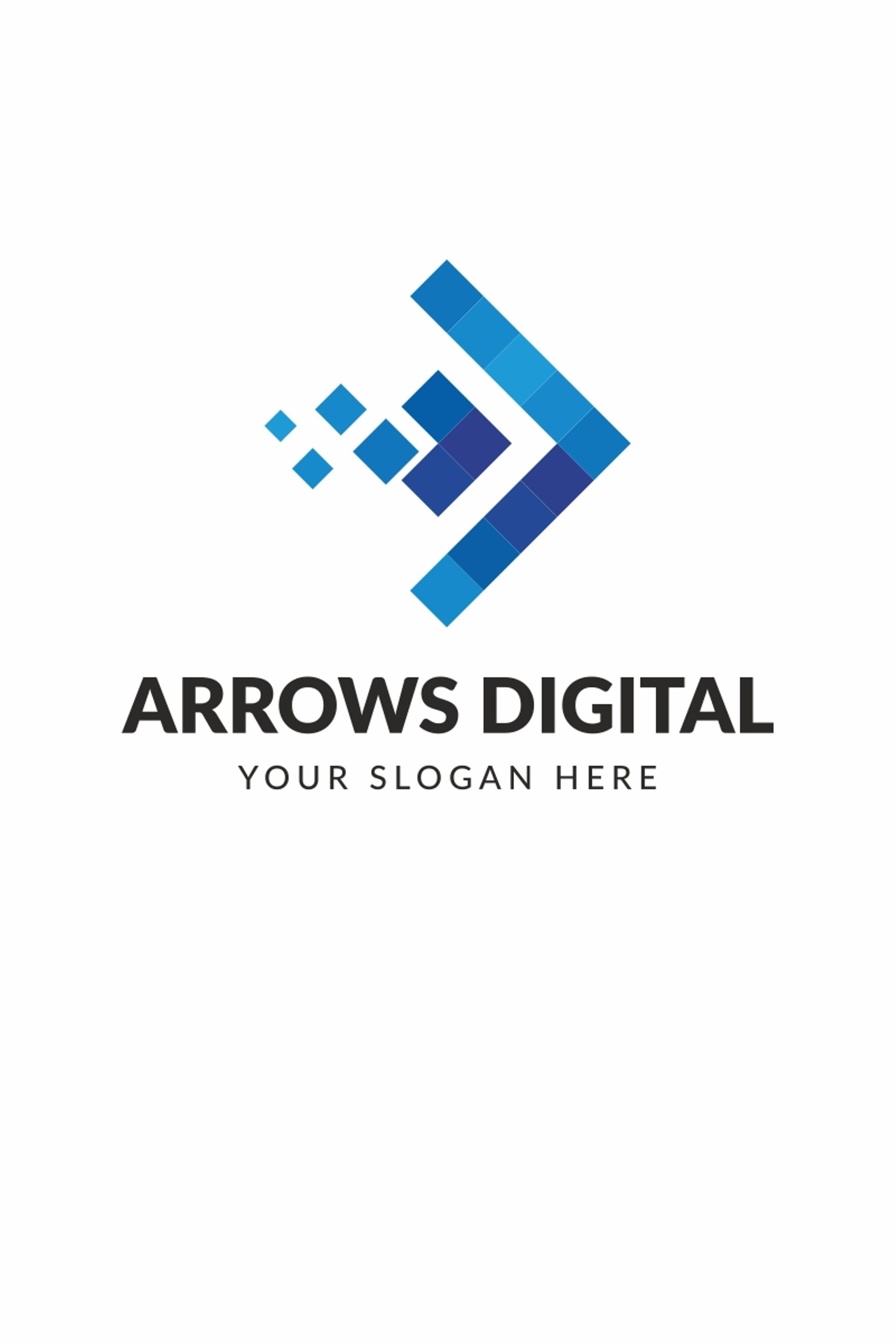 Arrows Digital Logo Template Usd Arrows Digital Multifunctional Logo That Can Be Used In Technological Companies In Compa Logo Templates Marketing Logo Logos