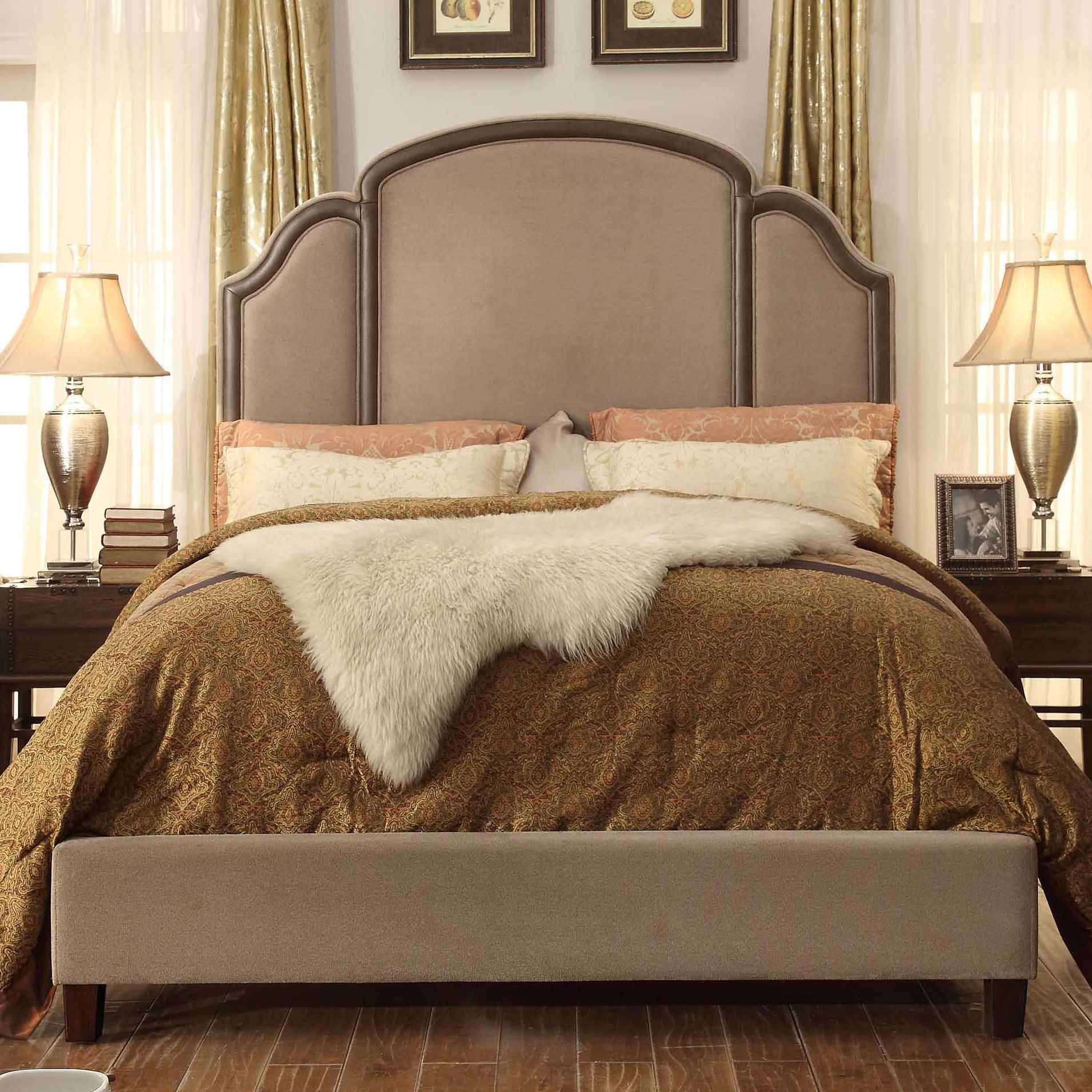 Ricca Queen Upholstered Platform Bed | Products | Pinterest | Betten ...