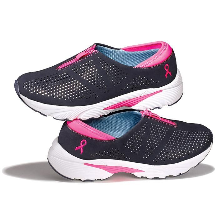 Pink Pride Crusade Sneaker | Avon. It's time to make a difference! Step into the cause with the Pink Pride Crusade Sneakers. These sneakers have Memory Foam footbed and has a treaded sole for traction. Soft, flexible heel accent provides extra comfort and prevents sneaker from digging into heel. For every sneakers purchased $7 will be donated to the Avon Foundation for Women to support Avon Breast Cancer Crusade programs across the U.S.