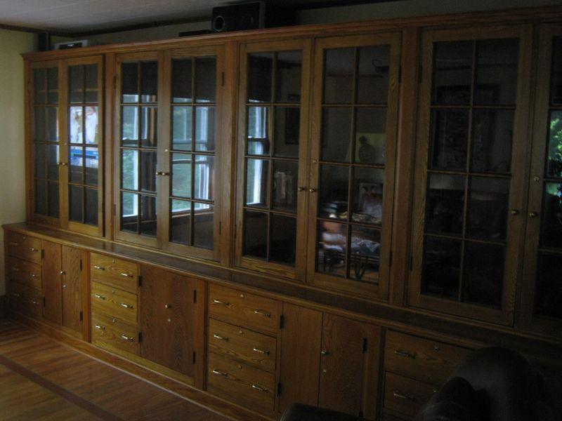 the customer did a great job restoring these built-in cabinets