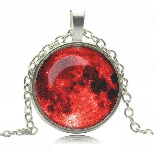 Biżuteria łańcuszek przywieszka czerwony w Schmuck na DaWanda.com