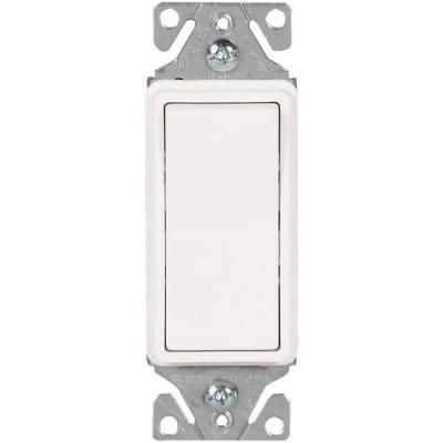 Eaton 15 Amp 120 Volt 277 Volt Heavy Duty Grade 3 Way Decorator Lighted Rocker Switch With Back And Push Wire In White 7513w Box Installing A Light Switch Wire Clamp Multi Family Homes