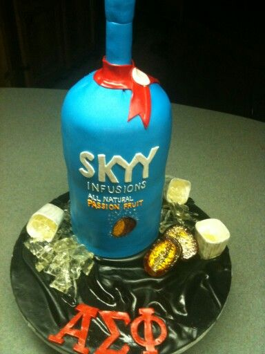 Prime Skyy Vodka Birthday Cake Adult Birthday Cakes Skyy Vodka Funny Birthday Cards Online Alyptdamsfinfo