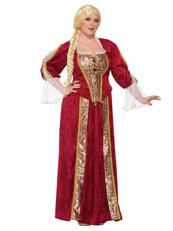 Renaissance Queen Curvy Women's Costume