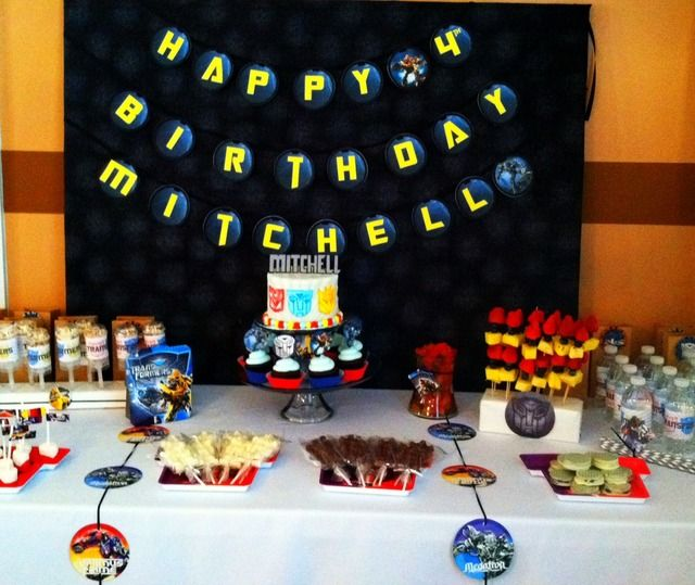 Boy Party Birthday Party Ideas Photo 2 Of 10 Transformers Birthday Parties 18th Birthday Party Kids Party Food