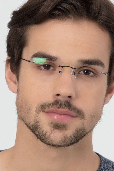 Woodrow Rectangle Black Frame Glasses Em 2020 Oculos De Grau