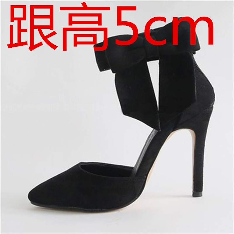 (57.00$)  Watch now  - Bow high heel toe cap covering women's shoes small yards 30 31 32 33 plus size 40 41 42 43 44 sandals free shipping