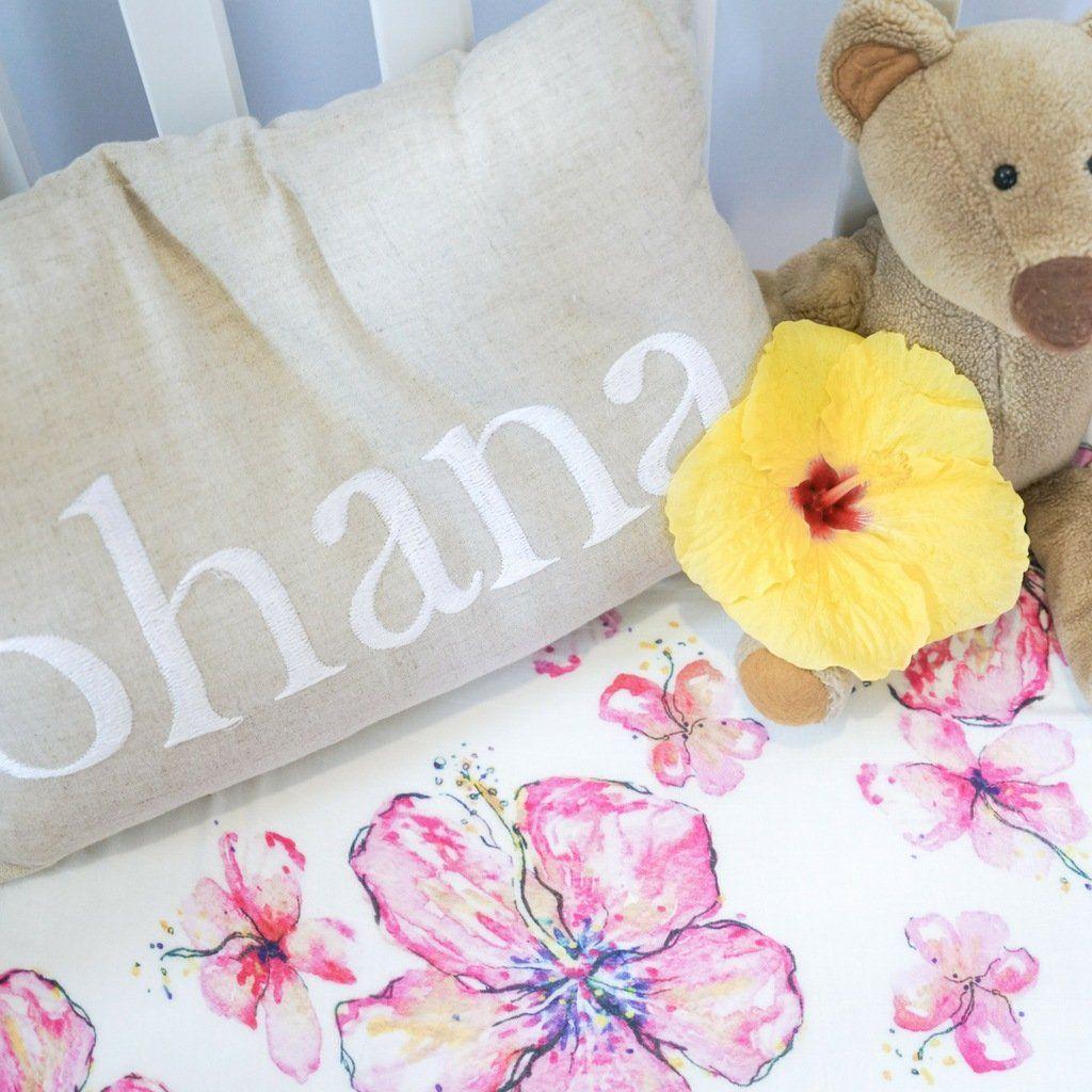 Crib Sheet Hibiscus Crib Sheet Flower Crib Sheet Security Blanket And Swaddle Blanket Perfect Tropical Nursery Nursery Design Girl Tropical Nursery Girl