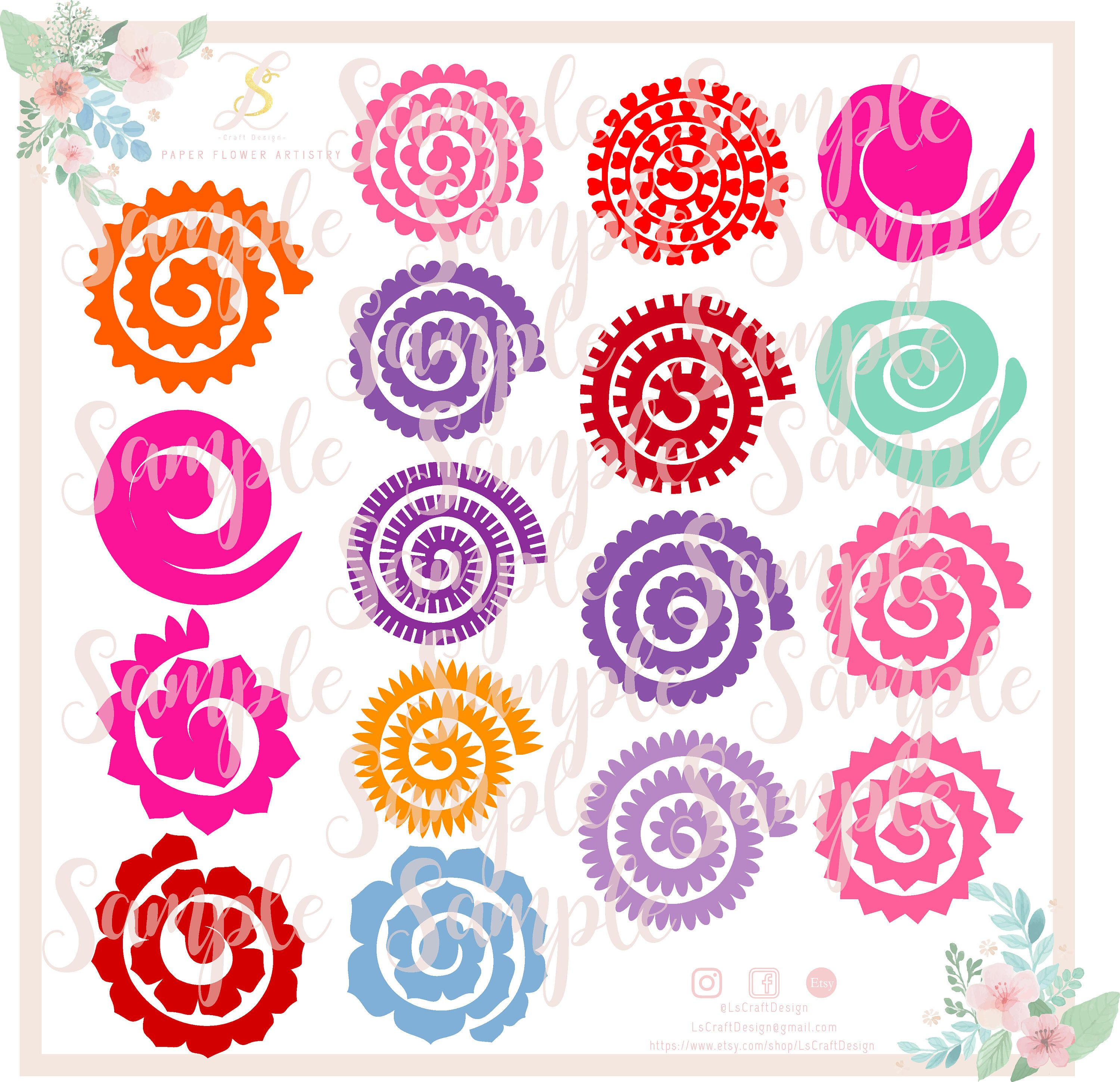 17 rolled paper flowers svg cut files paper flowers bundle mini 17 rolled paper flowers svg cut files paper flowers bundle mini paper flowers mightylinksfo