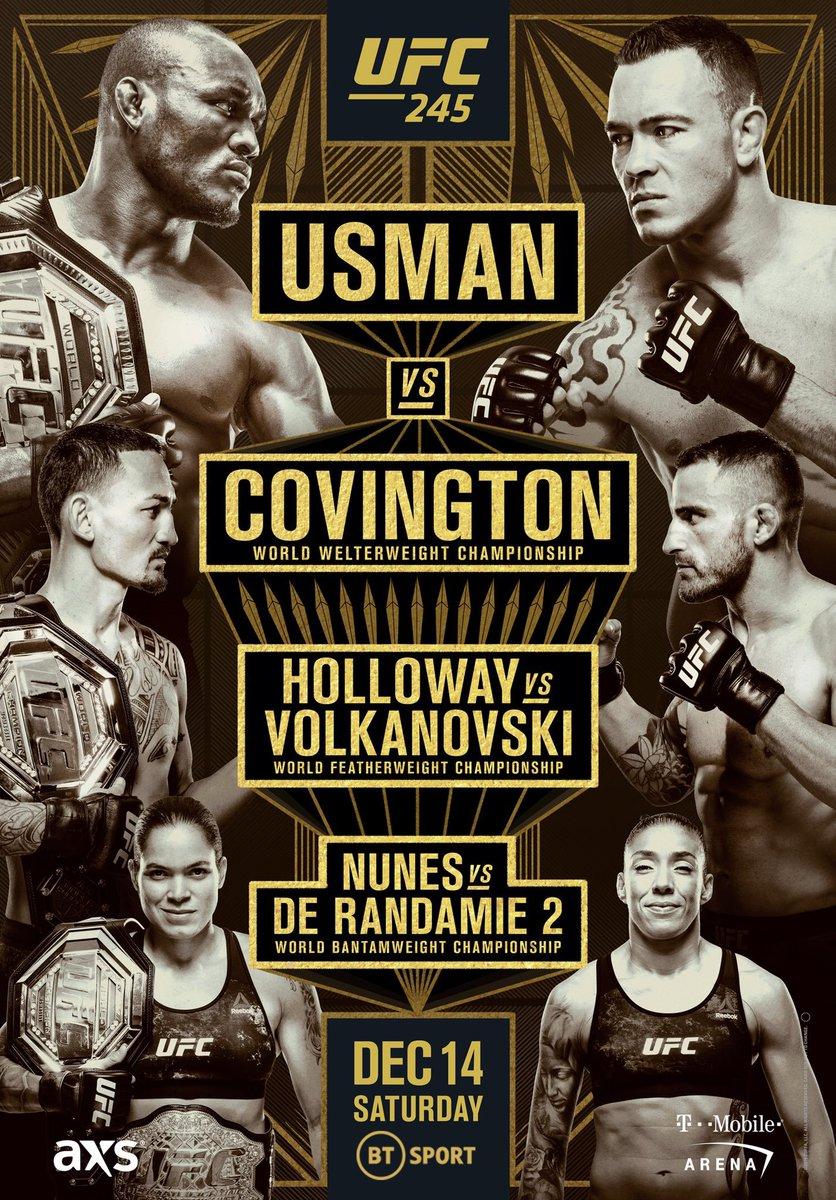 Live Combat Sport Schedule 12/11 12/16 Ufc poster
