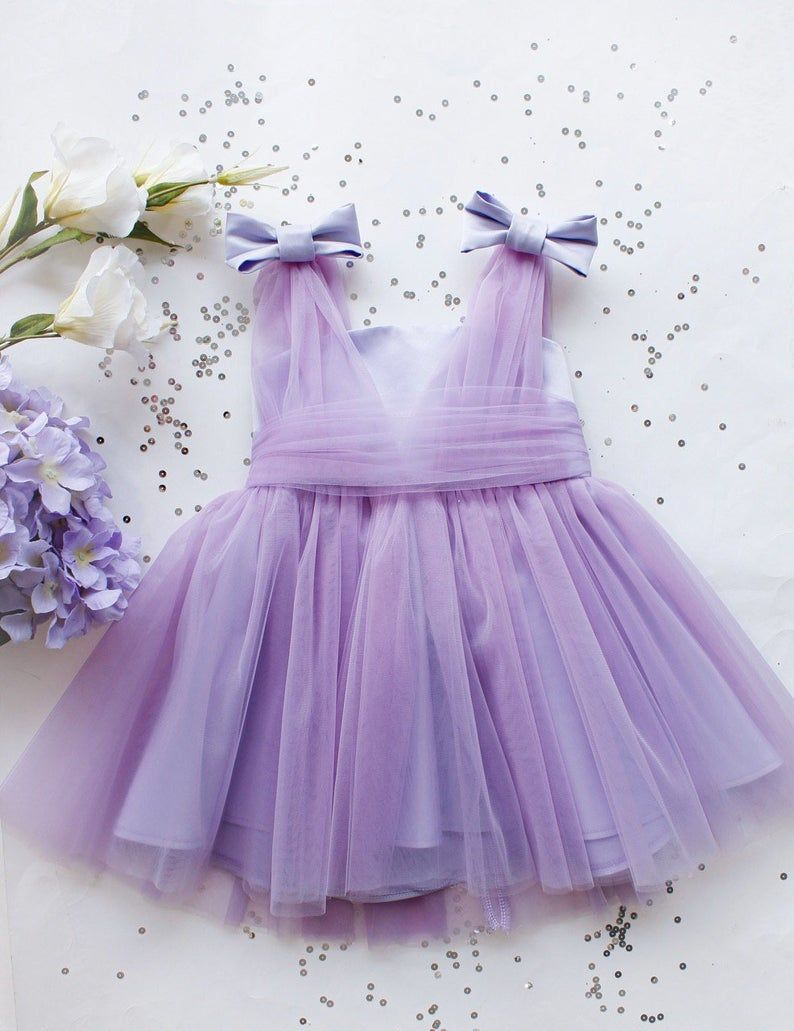 Azul bebé niña vestido impresionante tulle bebé vestido niño niña niña vestido tutú vestido de cumpleaños vestido de niña con arco prom tamaño 6 9 12 18 mes