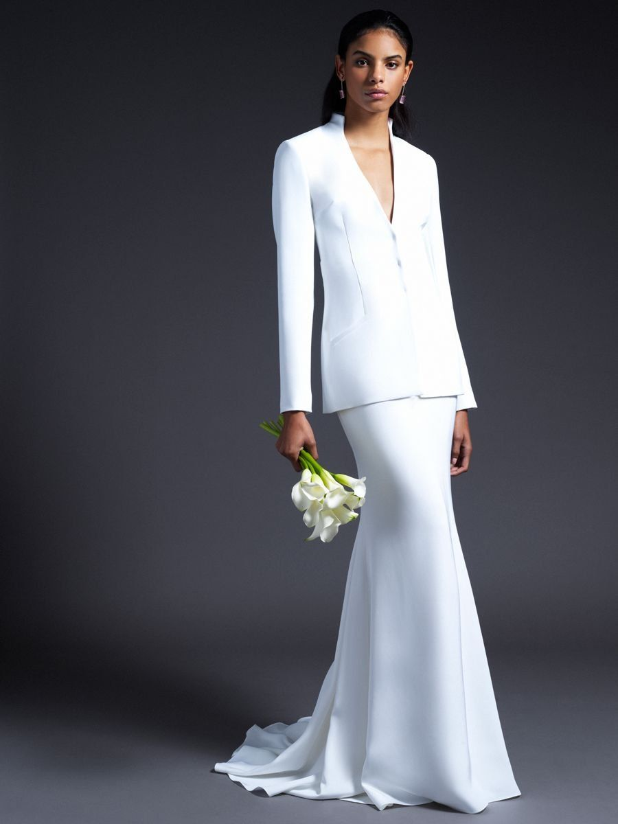 Wedding dress high neck open back  Cushnie Fall  Bridal Collection  I DO  Pinterest  Wedding