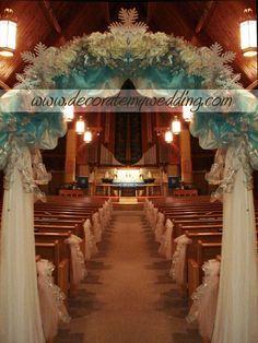 Winter Wedding Head Table Decorations