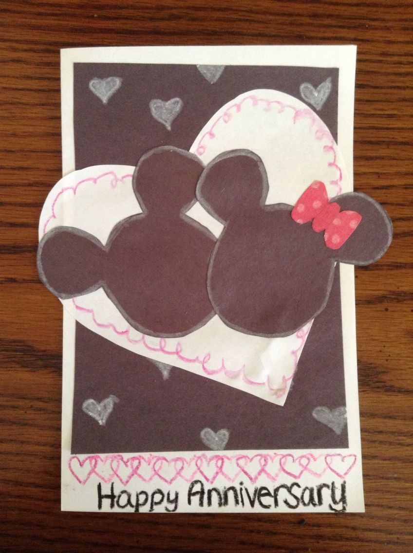 Adorable Anniversary Card For Any Significant Other Especially Disney Lovers Cards Happy Anniversary Anniversary Cards
