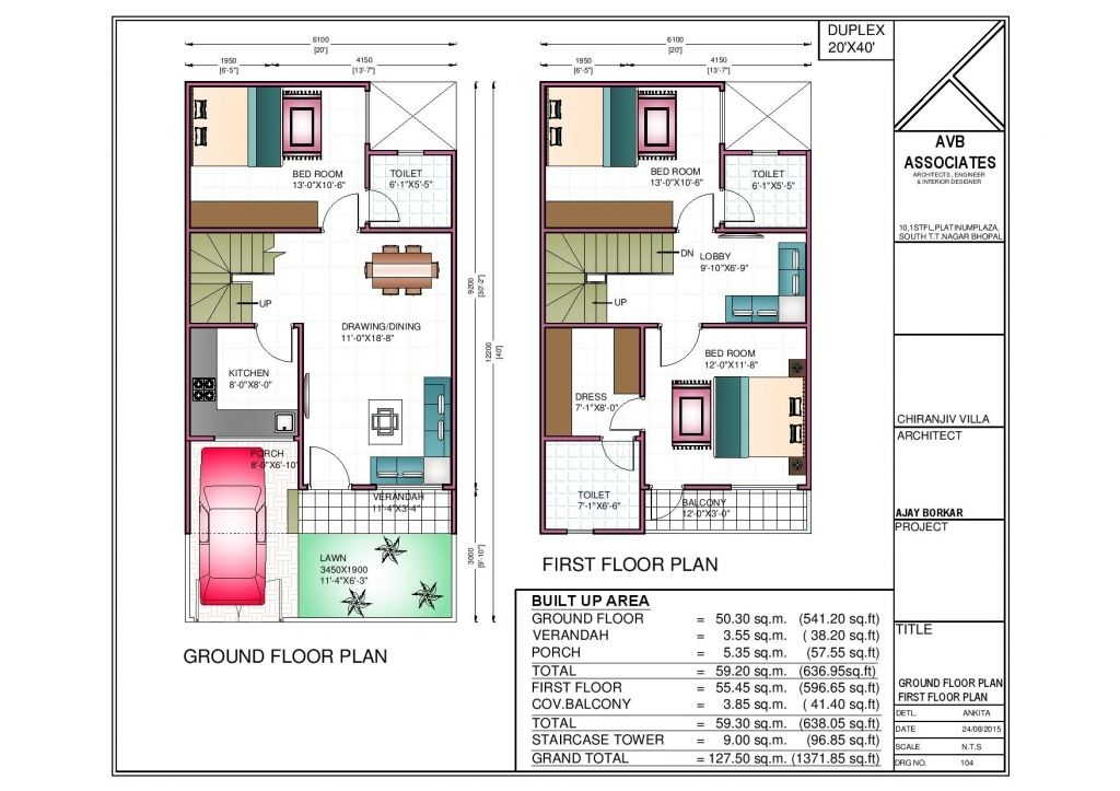 Super Ideas Duplex House Plans In Greater Noida 9 750 Sq Ft Jpg 1024 723 20x40 House Plans 2bhk House Plan House Floor Plans