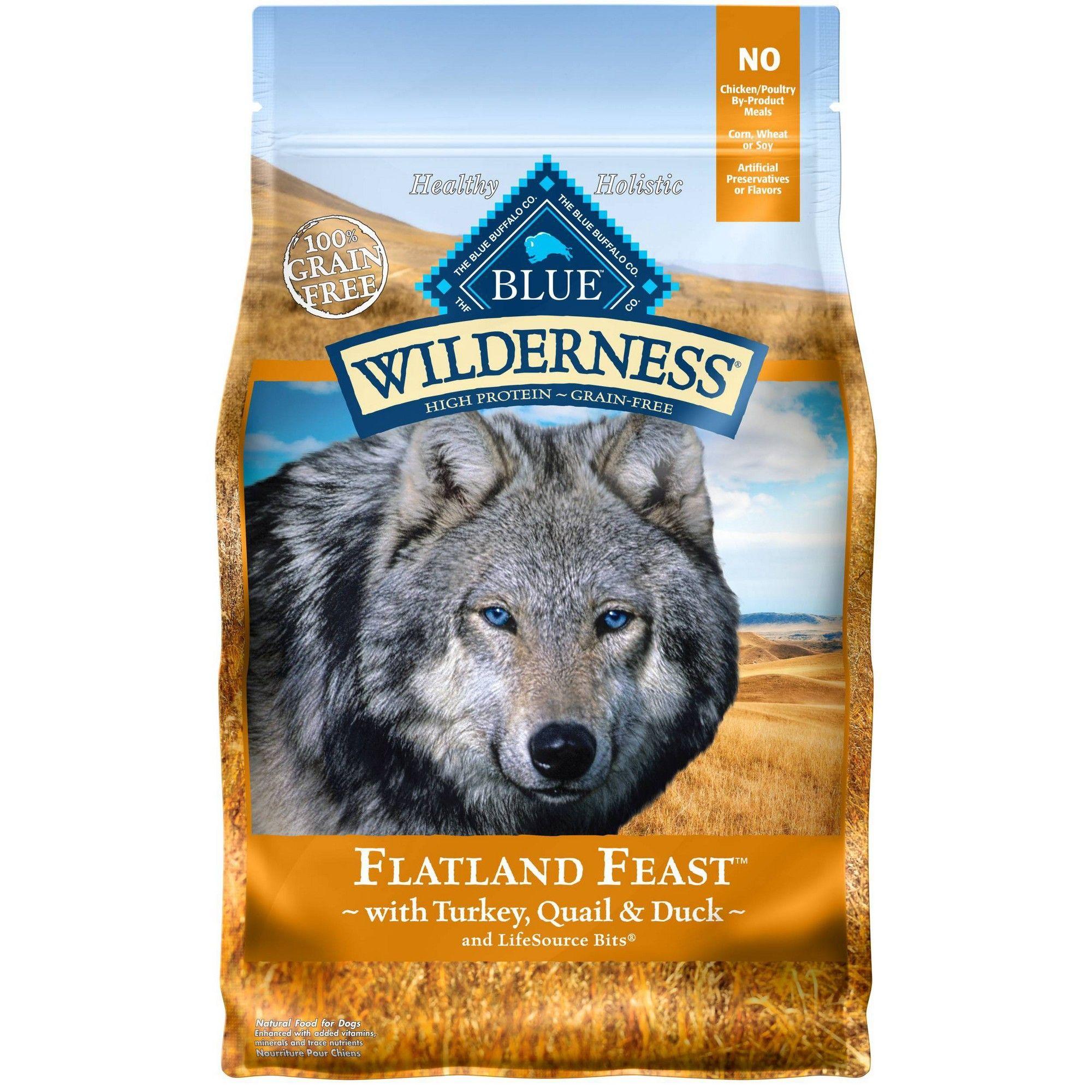 Blue Buffalo Wilderness Flatland Feast Dry Dog Food 4lb Dry