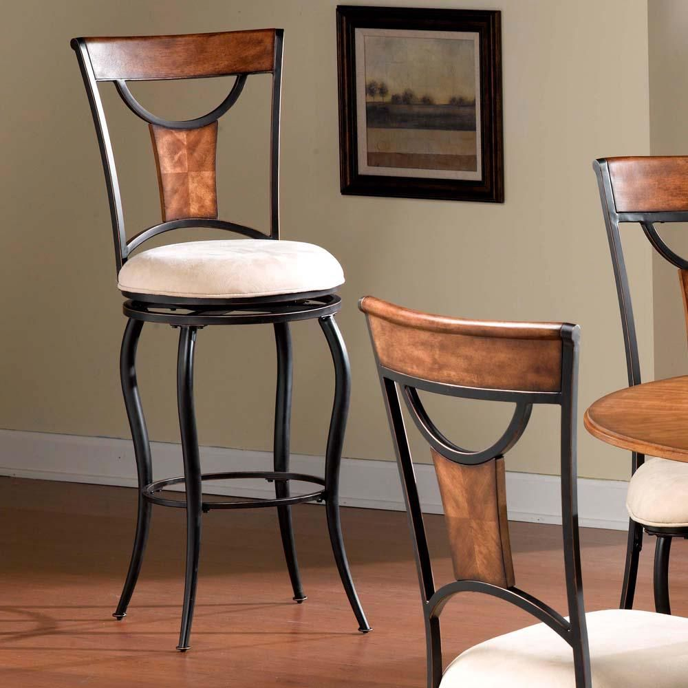 Swell Pacifico 26 In Black And Copper Cushioned Bar Stool Black Bralicious Painted Fabric Chair Ideas Braliciousco