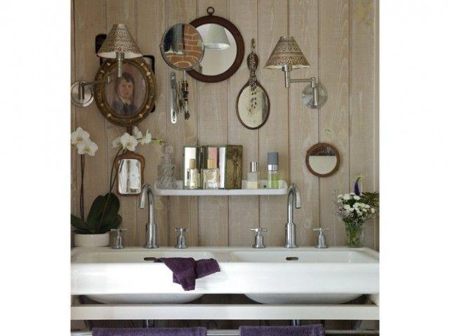 6 La salle de bains d\'une maison de campagne d\'ambiance citadine ...