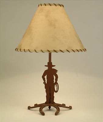 Horseshoe Cowboy Table Lamp Lamp Table Lamp Ranch House Decor