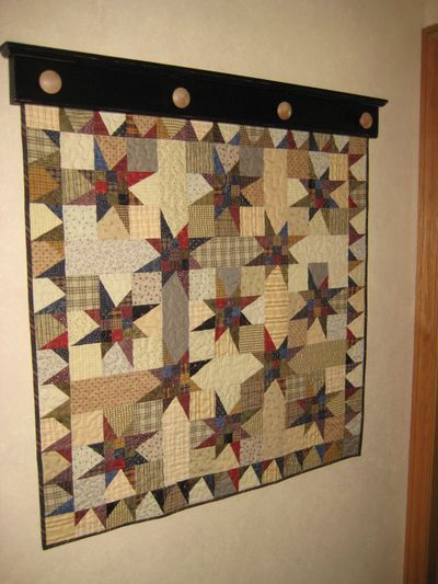 Scrappy Stars I Love That Quilt Hanger Hanging