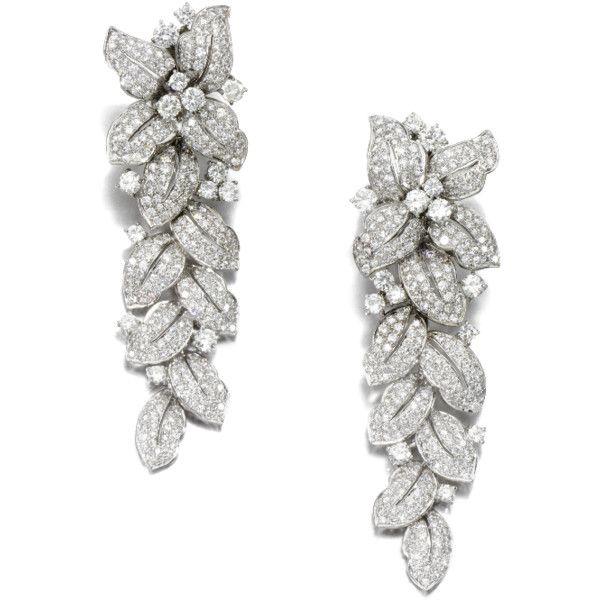 Diamond Cluster Leaf Flower Chandelier Earrings Png Png Image 509 685 Pixels Scaled 80 Found On Leaf Jewelry Diamond Chandelier Earrings Fine Jewels