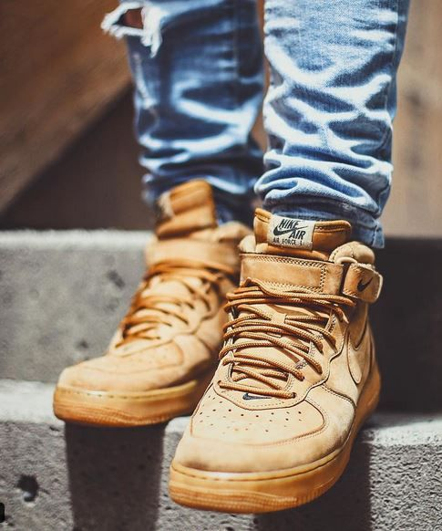 6191cafe8531 Nike Air Force 1 Mid  Flax    Fall   Pinterest   Sneakers, Nike air ...
