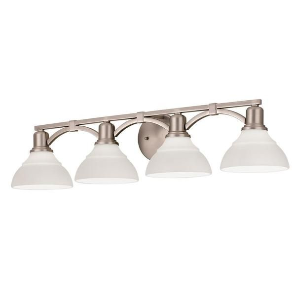 Gentil Kichler Lighting Transitional 4 Light Brushed Nickel Bath/Vanity Light    Overstock™ Shopping   Top Rated Kichler Lighting Sconces U0026 Vanities