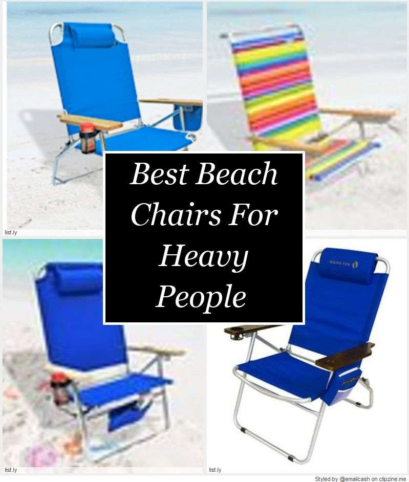 Finding The Best Beach Chairs For Heavy People Is Not Always Easy