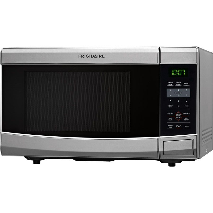 Shop Frigidaire 1 1 Cu Ft 1100 Watt Countertop Microwave Stainless Steel At Lowes Com Countertop Microwave Stainless Steel Microwave Lowes Home Improvements