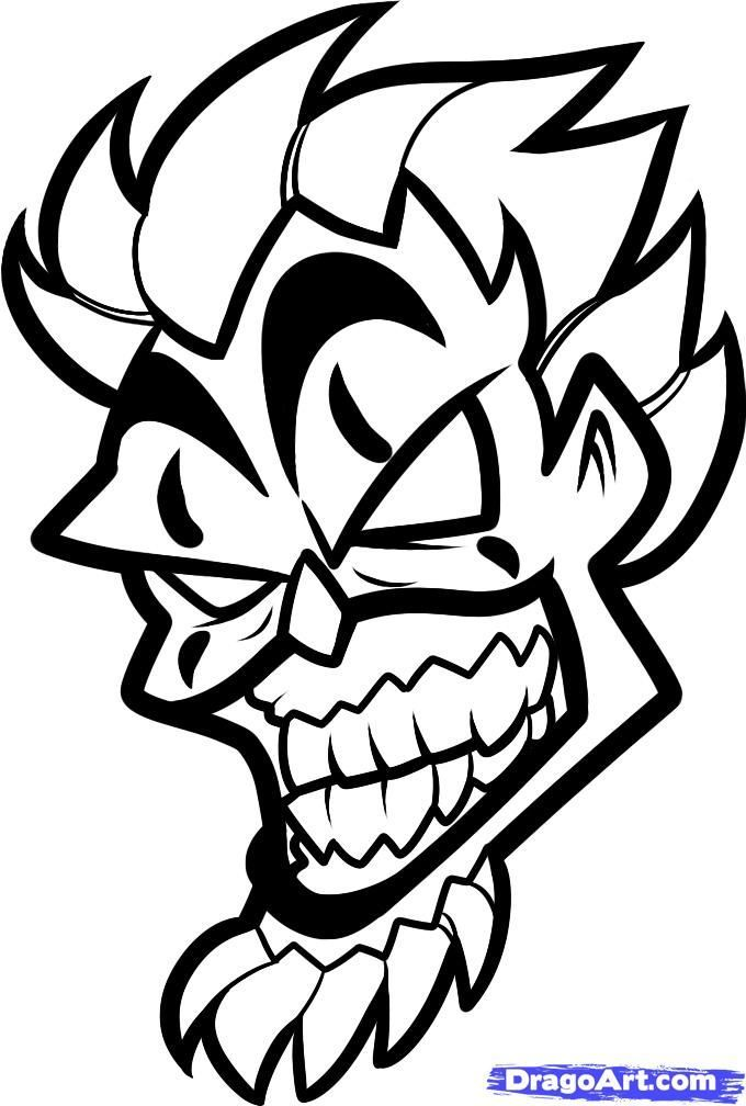 clown drawings how to draw violent j insane clown posse step by